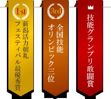 二村建築が受賞した賞
